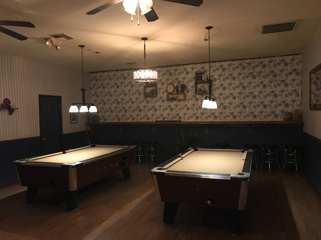 The pool tables in Pat's Courtyard Bar were re-felted to offer bar goers a premium playing experience.    Mick Akers/Pahrump Valley Times