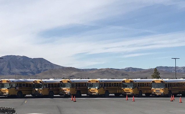 The Clark County School District will donate dozens of school buses to outside school districts in the state, including to Nye County, which will receive 20 of the 69 buses CCSD is donating, a don ...