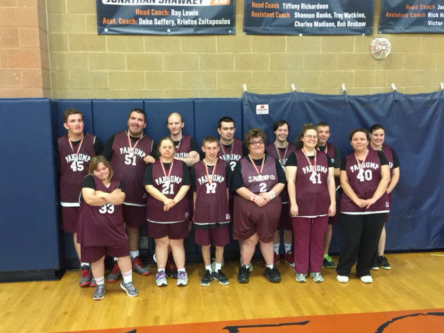 The 2016 Special Olympics basketball team. Bruce Cox has coached this team for the last 11 years and says it's the most rewarding experience. Special Olympics is looking for a new bocce ball coa ...