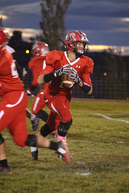 Muckers quarterback and linebacker Tanner Otteson was chosen to play in the the 13th Annual Max Emfinger All-American Game.  Penny Otteson/Special to the Times-Bonanza & Goldfield News