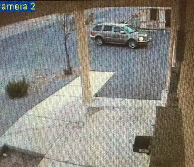 The Horizon Market robbery suspect's gold Dodge Durango. Special to the Pahrump Valley Times