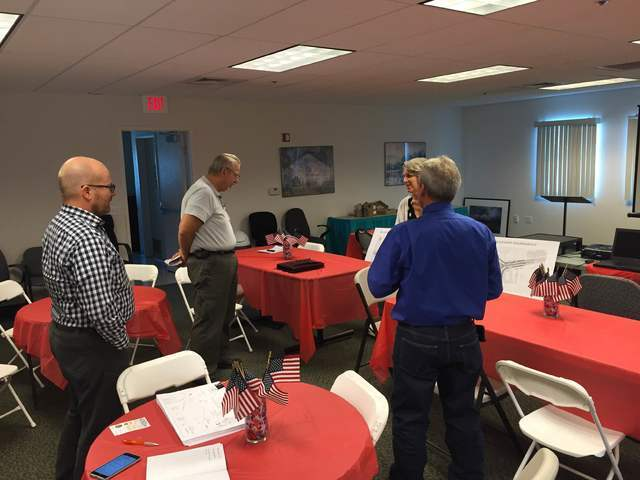 A stakeholders meting was held Wednesday morning with the Nevada Department of Transportation at the Pahrump Valley Chamber of Commerce to go over the proposed Highway 372 roundabout plans. Inform ...