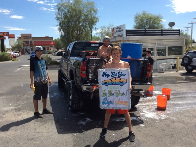 Special to the Pahrump Valley Times Volunteers have been raising money by washing cars and selling T-shirts for months for the upcoming festival on Oct. 29, which is called the Light in the Dark P ...