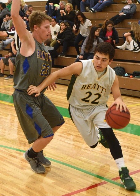 Richard Stephens / Pahrump Valley Times Jacob Oseguera drives the ball against Alamo last year. He's back along with a heavily laden senior team.