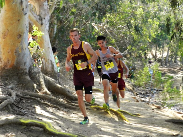 Special to the Pahrump Valley Times Layron Sonerholm in his second meet back after his injury to his ankle earlier in the year. He is the second fastest boy on the team.