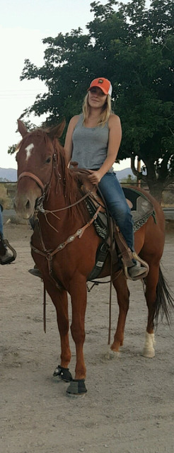 Barrel racer Mia Krebs feels that Pahrump can get enough students to form a team. She raced in events up in Humboldt County.  Special to the Pahrump Valley Times
