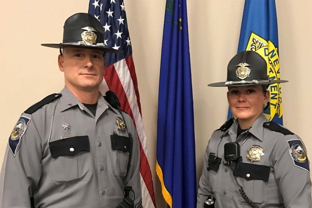 The Nevada Highway Patrol will debut new uniforms on Jan. 1, which will change their current navy blue uniforms to a new gray version.   Special to the Pahrump Valley Times
