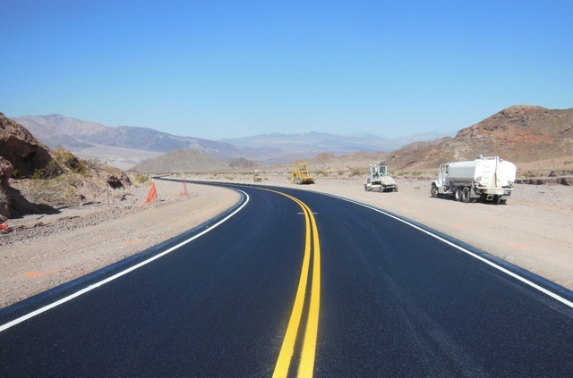 Badwater Road in Death Valley reopens