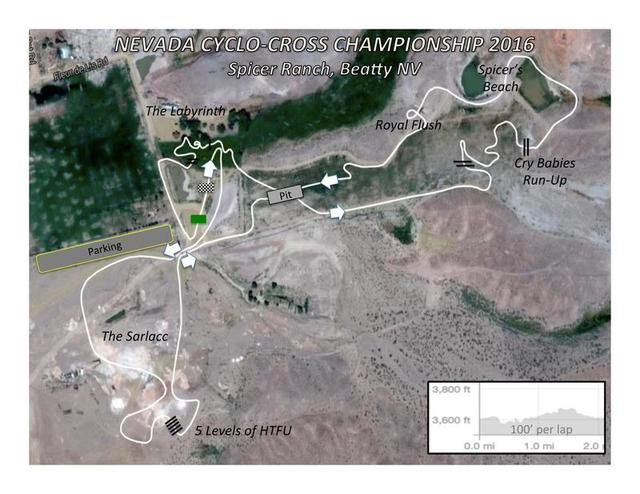 Special to the Pahrump Valley Times The official 2.1 mile cyclocross course at Spicer Ranch. The event will be Sunday, Nov. 27 at 8 a.m.
