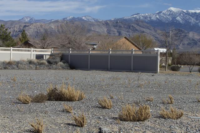 An unfinished housing Burson Ranch community by Beazer Homes, Thursday, Feb. 16, 2017, in Pahrump, Nev. (Erik Verduzco/Las Vegas Review-Journal) @Erik_Verduzco