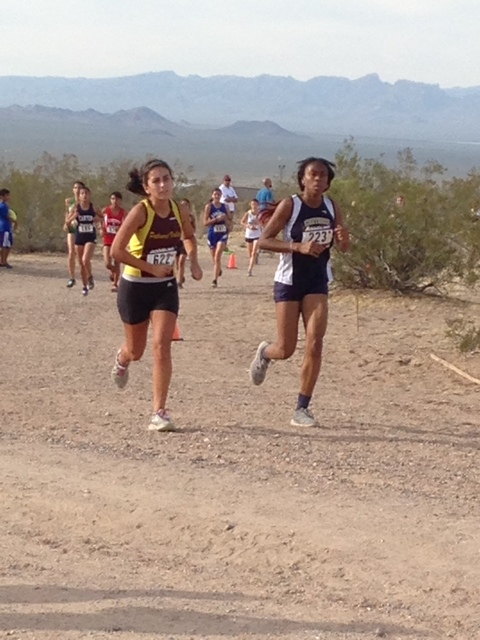 Special to the Pahrump Valley Times Alicia Quiroz runs in the Lake Mead Invitational on Oct 8. Quiroz finished in 13th place out of 29 girls at the division finals last Saturday.