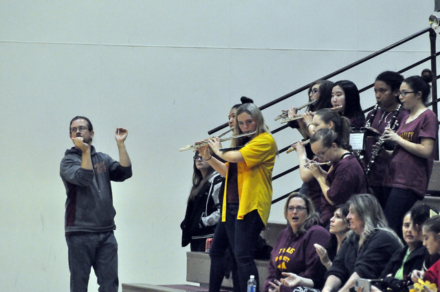 Horace Langford Jr. / Pahrump Valley Times  Checkout the sound of the new Trojans Pep Band when you go and see a basketball game. The sound has improved!