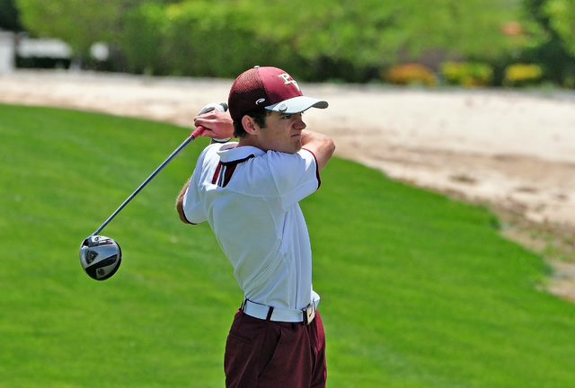 Horace Langford Jr / Pahrump Valley Times  Golfer Derek Moore swung his last club for the Trojans in May at the state tournament at Mountain Falls. The Trojans finished second to Faith Lutheran.