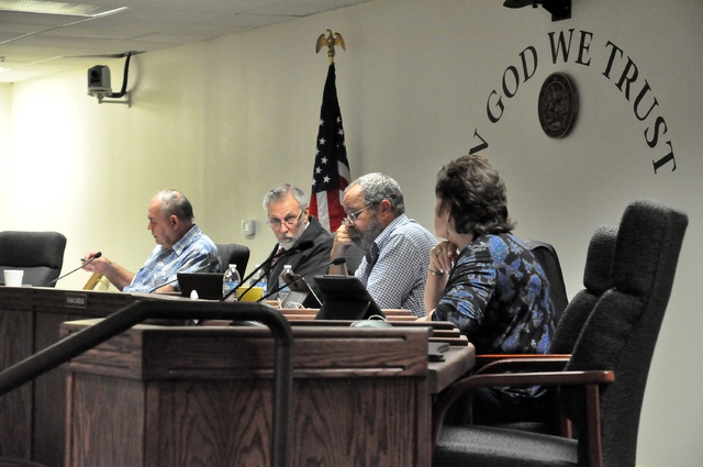 Horace Langford Jr. / Pahrump Valley Times - Nye County Commissioners on Tuesday voted to retain the legal firm Hoy, Chrissinger, Kimmel, Vallas, PC, and its attorney Thomas Vallas to represent No ...