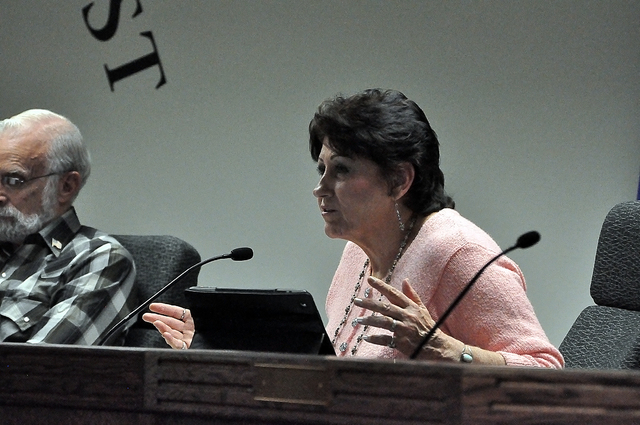 Commissioner Donna Cox said she was in support of the Nye County bill seeking to do away with the Nye County Water District. Cox said the county needs to get rid of the Nye County Water District G ...