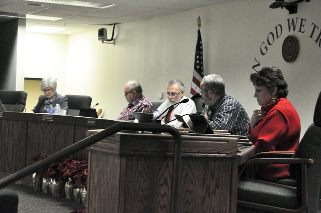 Nye County commissioners approved resolutions that allowed augmentation of ending fund balances for various county funds.  Horace Langford Jr. / Pahrump Valley Times