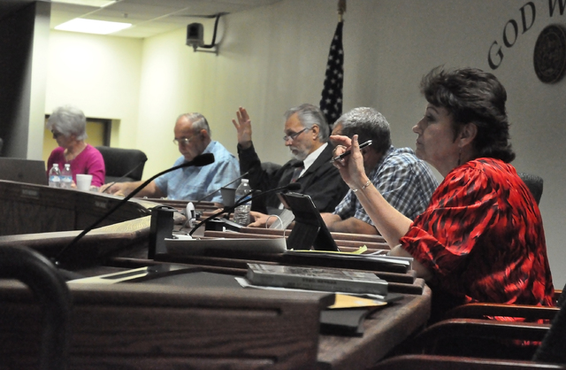Nye County Commissioners on Tuesday approved a Nye County property use policy that sets new guidelines for bulletin boards and electioneering activities.  Horace Langford Jr. / Pahrump Valley Times