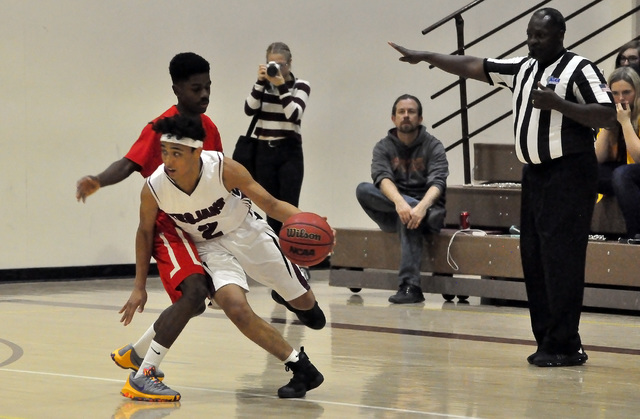 Horace Langford Jr. / Pahrump Valley Times  Antonio Fortin seeb driving the ball against Tech last Friday  shows off his ability to take the ball down the court. The talented junior point guard he ...