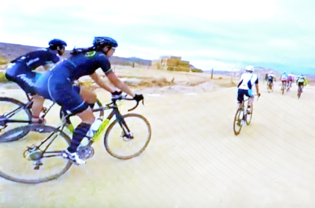 Special to the Pahrump Valley Times  Above, riders test the course at Spicer Ranch for the Nevada Cyclocross State Championship race on Nov. 27. Steve Clausse developed all kinds of obstacles for  ...