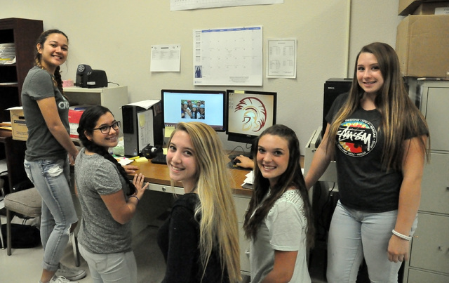Horace Langford Jr. / Pahrump Valley Times From left to right: Cassandra Goodman, Ana Valero,Megan Cotton, Halie Souza, and Aryanna Bell working hard to ease hunger at Pahrump Valley High School b ...