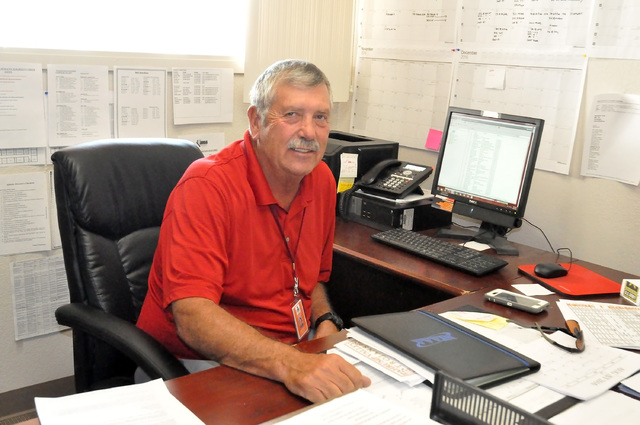 Horace Langford Jr. / Pahrump Valley Times -  Larry Goings came back out of retirement to be the new Trojans athletic director after Ed Kirkwood left for Florida. Goins was the director in 2008 an ...