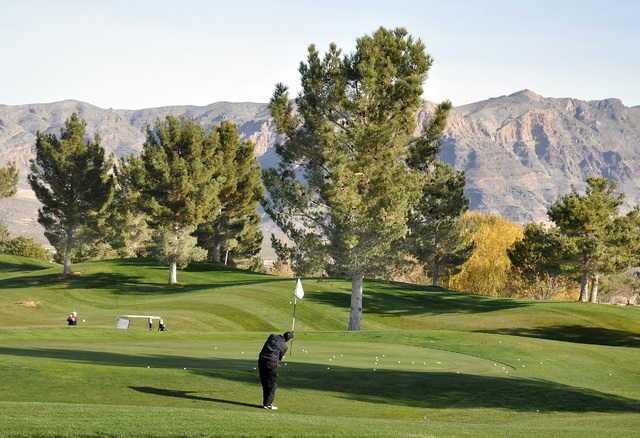 In addition to all the clubs, bags and gadgets, the best gift according to golf professional Randy Mudge, is the gift of golf itself.  Horace Langford Jr./Pahrump Valley Times