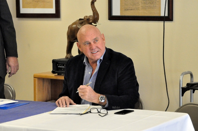 Horace Langford Jr. / Pahrump Valley Times - Business owner and former Nevada Assembly District 36 candidate Dennis Hof switched his affiliation from Libertarian to Republican on Tuesday. Hof said ...