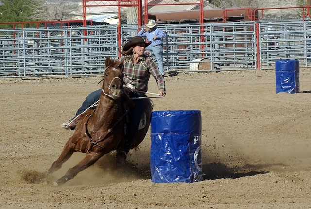 Barrel racing is one of those events that does not cost anything. It's the stock events that can cost the rodeo. This unknown barrel racer was in the last high school rodeo in town, probably in  ...