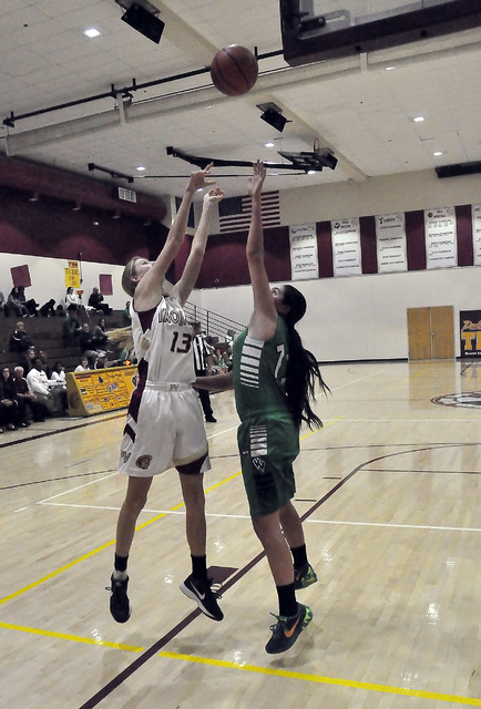Samantha Runnion penetrates the paint and goes up for the basket against Virgin Valley.  Horace Langford Jr. / Pahrump Valley Times