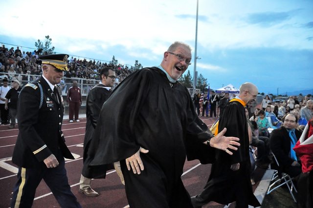 Horace Langford Jr. / Pahrump Valley Times  Ed Kirkwood at the PVHS Graduation class of 2015.