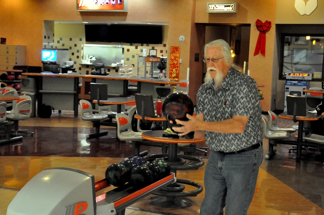 Horace Langford Jr. / Pahrump Valley Times  Bowler Steve Loeck on Nov. 17 bowled two 300 games in a row. It was his first time bowling a 300 game and his first 800 series as well that day.
