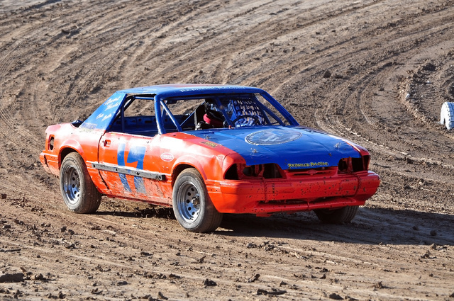 Anthony Martin races his #17 car at the Pahrump Valley Speedway on July 30, where he took first place in the Mini Stock Class. Horace Langford Jr. / Pahrump Valley Times