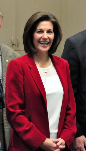 Horace Langford Jr. / Pahrump Valley Times - Catherine Cortez Masto, former two-terms Nevada attorney general said she has been running her campaign on her record of working in a bipartisan manner ...