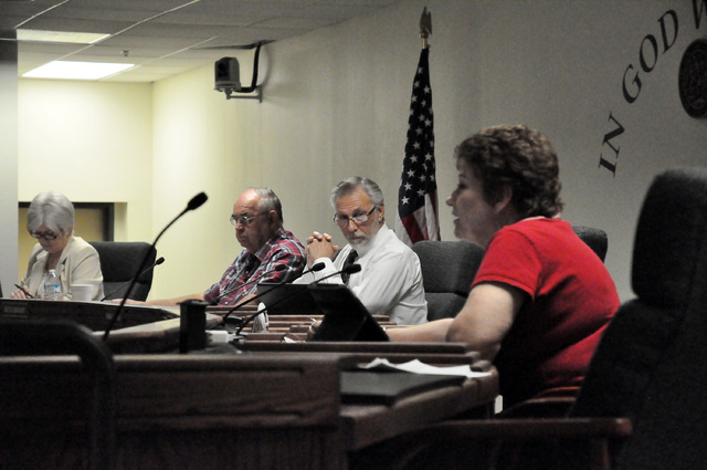 Horace Langford Jr. / Pahrump Valley Times   Nye County commissioners suggested several changes to the proposed Nye County property use policy after a discussion on Tuesday. Nye County District At ...
