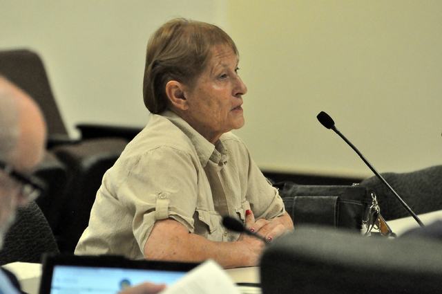 Horace Langford Jr. / Pahrump Valley Times  Patty Grubbs, one of the neighbors of the proposed child care, said the facility doesn't have enough space to accommodate up to 12 children.