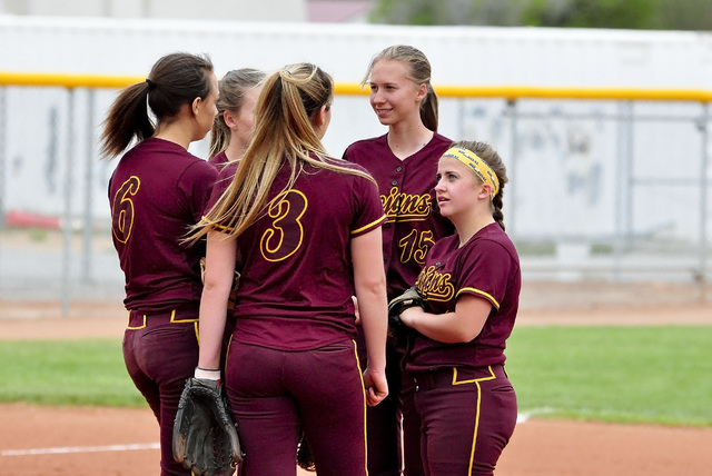 Horace Langford Jr. / Pahrump Valley Times  The 2016 PVHS Softball team finished fourth in the old Division 1A and made it to the third round of the playoffs.