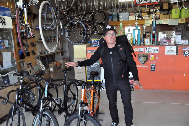 Horace Langford Jr. / Pahrump Valley Times  In addition to bikes, Bicycle Warehouse carries packs that you can take shopping with you and use them to carry all your treasures home.