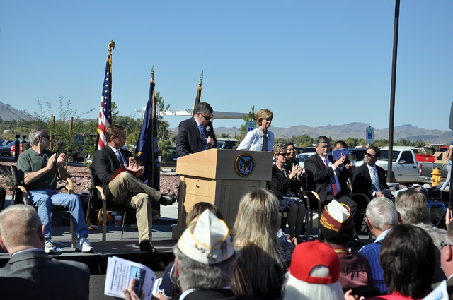 Horace Langford Jr. / Pahrump Valley Times - VA Clinic Ribbon cutting ceremony.