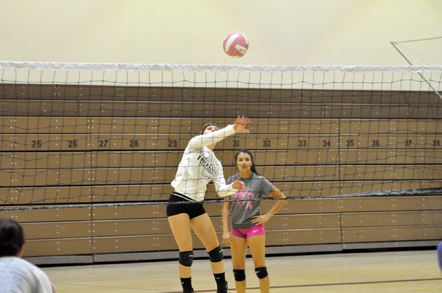 Horace Langford Jr. / Pahrump Valley Times  Veteran senior player Alexis Trieb goes for the ball in practice.