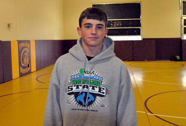 Horace Langford Jr. / Pahrump Valley Times - PVHS Wrestler Tristan Maughan.