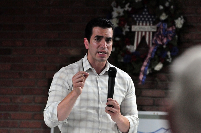 Congressman-elect Ruben Kihuen, pictured here in Pahrump in May, is planning a tour of the rural areas of his district after being sworn in early next year. Special to the Pahrump Valley Times