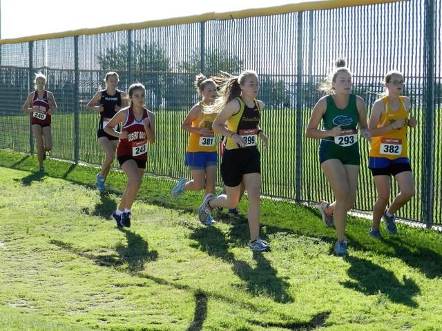 Tami Odegard / Special to the Pahrump Valley Times  Sophomore Sara Mason runs hard at the Labor Day Classic last Saturday.