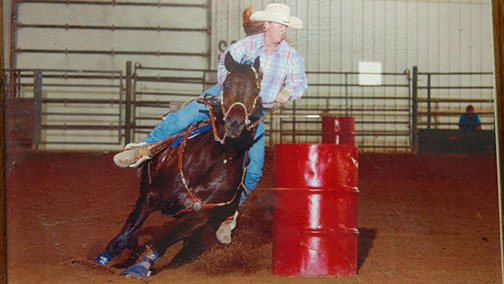 Special to the Pahrump Valley Times Shawna Krebs, seen in 2000, barrel raced in Las Vegas for Cheyenne High School. She said she will help out with whatever needs to be done to get the team in Pah ...