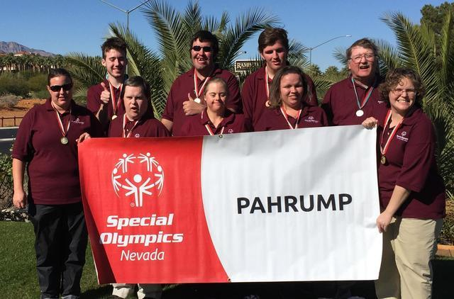 Last year's Special Olympics golf team gets some camera time.  Special to the Pahrump Valley Times