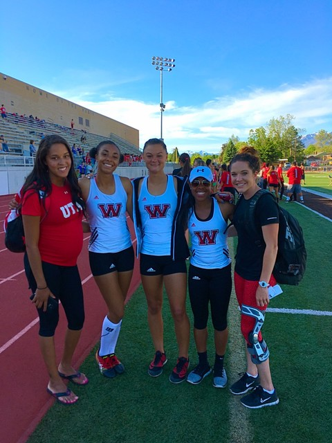 West High School in Salt Lake City for 2016 Track Season, serving as head coach. Her assistant is in the red, Alyssa Johnson, was a college teammate with Dean at the University of Utah. Special to ...