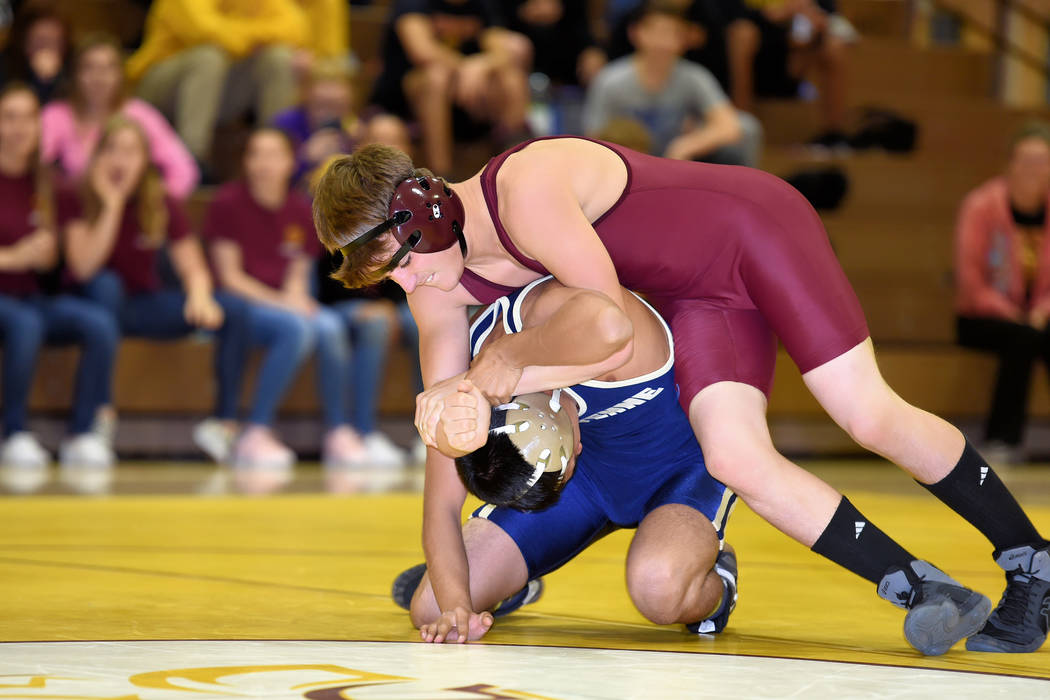 Peter Davis/Special to the Pahrump Valley Times The Pahrump Valley Trojans defeated Sunrise Mountain 72-12 and Western 60-17 in recent matchups. This photo was taken earlier this month when the Tr ...
