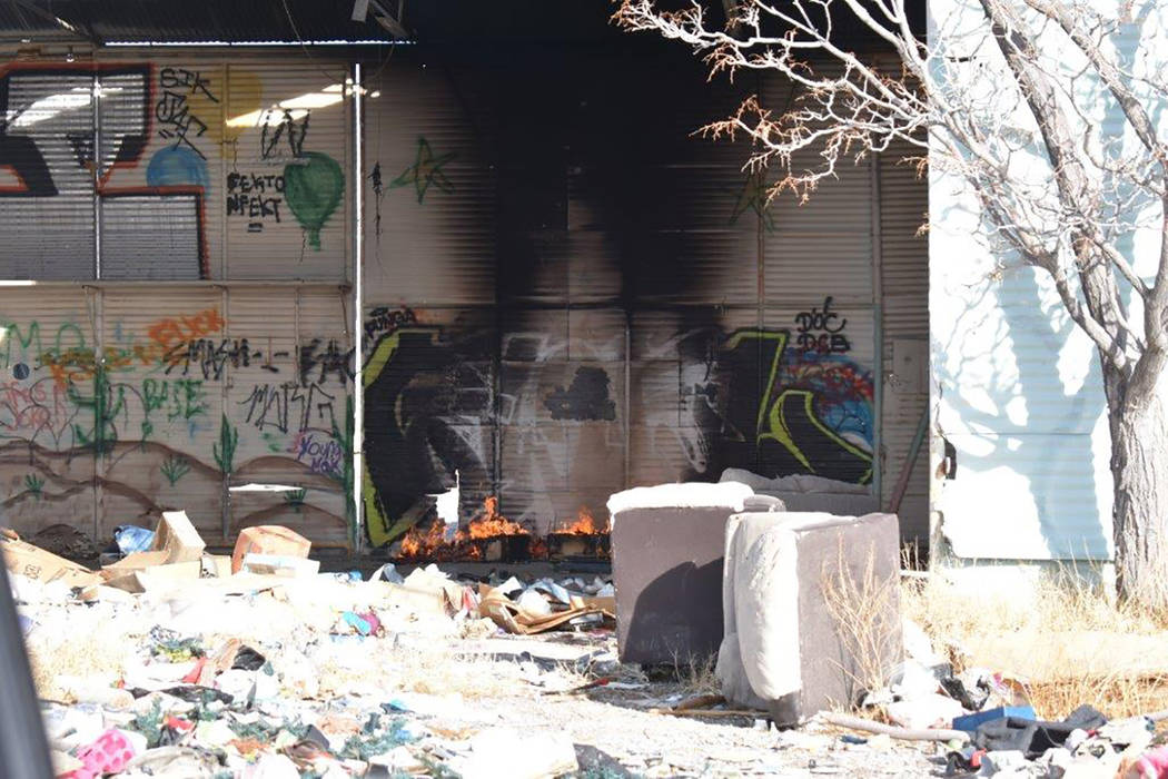 Special to the Pahrump Valley Times An abandoned building fire prompted the response of local fire crews in the area of Pahrump Valley Boulevard at Arrowhead Street for a building fire on the morn ...
