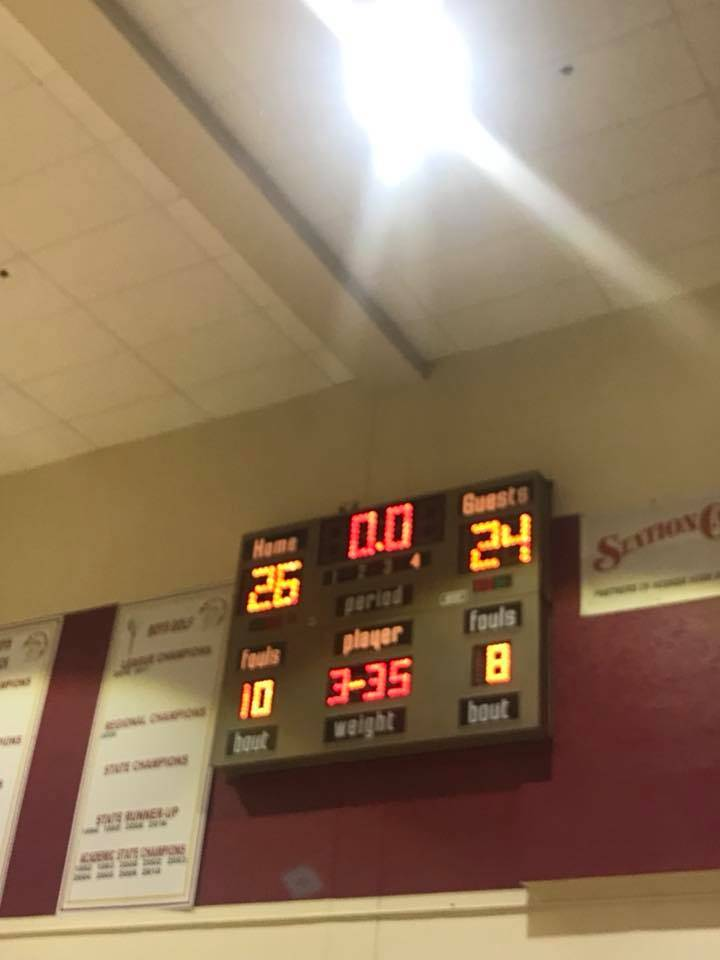 Glenda Stiles/Special to the Pahrump Valley Times The Pahrump Valley High School girls basketball team took their team to two victories on Jan. 8, 2018. The Trojans won against Boulder City and br ...