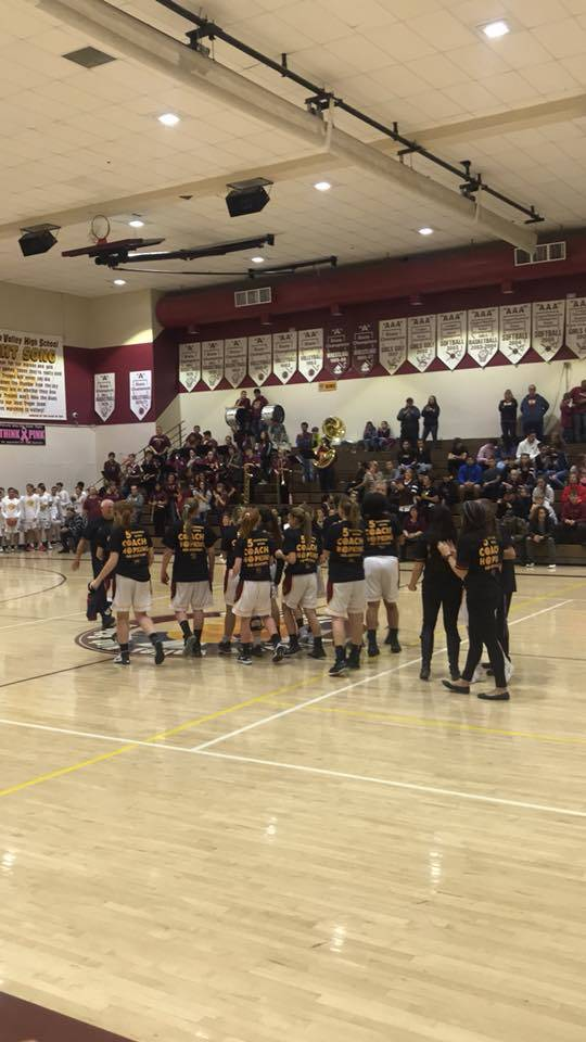 Glenda Stiles/Special to the Pahrump Valley Times The Pahrump Valley High School girls basketball team on their home court at the high school.