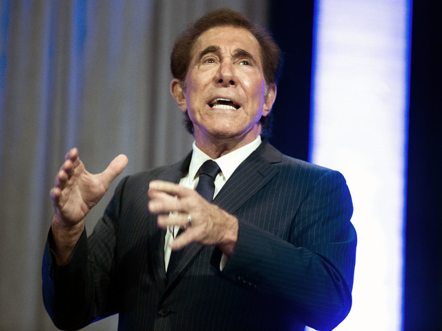 Jeff Scheid/Las Vegas Review-Journal  Steve Wynn speaks at the Mirage in Las Vegas on Tuesday, June 7, 2016.  Wynn has done his part to neutralize whatever partisan advantage the Republicans had i ...